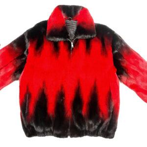 Wine Black Full Mink Fur Jacket
