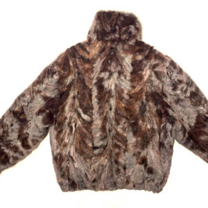 Wine Mink Fur Bomber Jacket