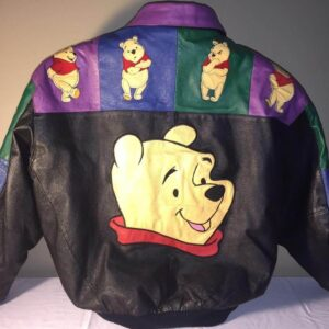 Winnie the Pooh Walt Disney Embroidered Leather Jacket