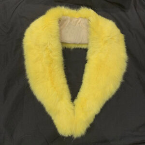 Yellow Rabbit Fur Wrap Collar