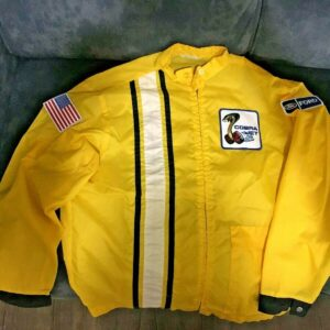 Yellow Vintage Ford Mustang Cobra Shelby Racing Jacket