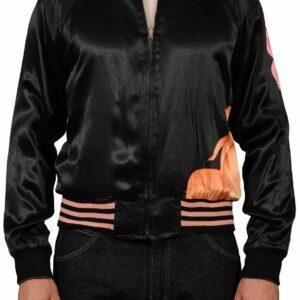 Yohji Yamamoto Satin Black Japan Souvenir Jacket