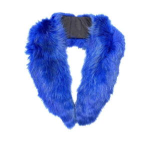 Blue Rabbit Fur Wrap Collar