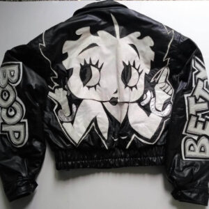 Beautiful Betty Boop Black and White Leather Jacket