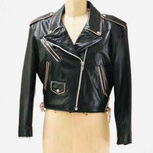 Betty Boop Black Biker Vintage Leather Jacket
