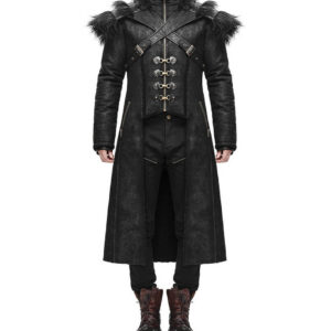 Black Armour Harness Goth Steampunk Winter Coat