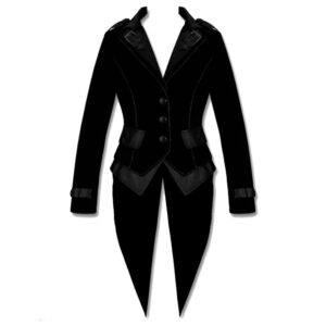 Black Goth Steampunk Tailcoat Victorian Coat