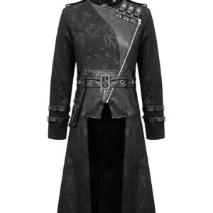 Black Goth Steampunk Trench Coat