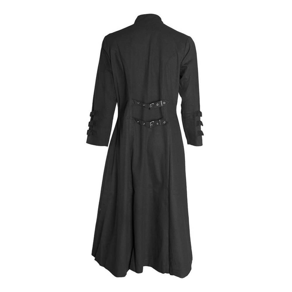 Black Gothic Goth Steampunk Long Coat