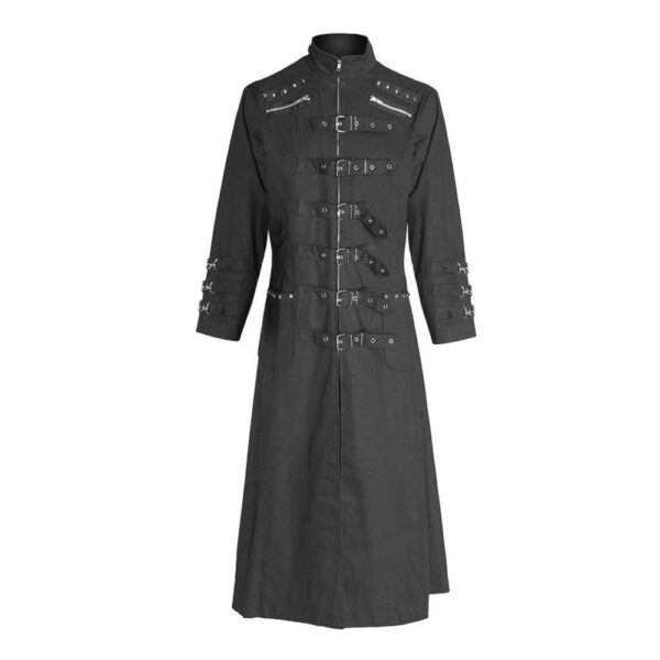 Black Gothic Goth Steampunk Long Coat