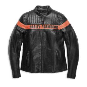 Black Harley Davidson Motorcycle Leather Jacket