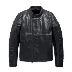 Black Harley Davidson Ozello Perforated Leather Jacket