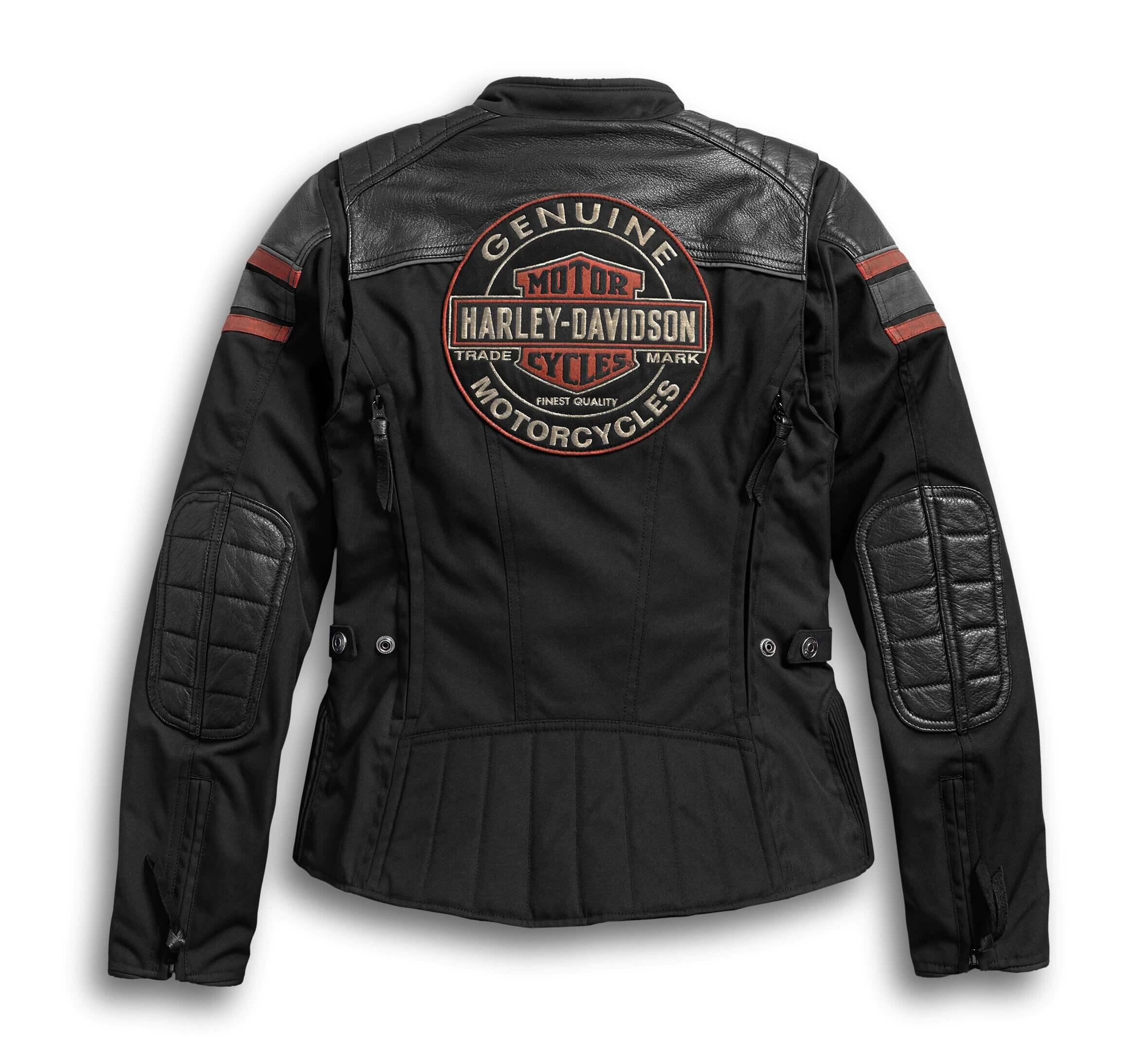 Black Harley Davidson Riding Leather Jacket