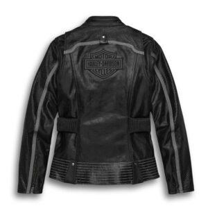 D:\Jacketsmaker.com\Black Motorcycle Leather Harley Davidson Jacket