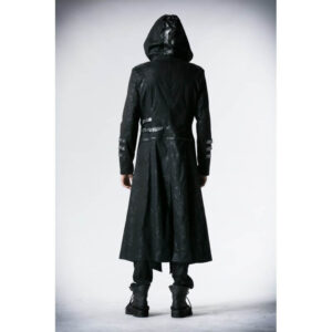 Black Steampunk Gothic Convertible Hooded Coat