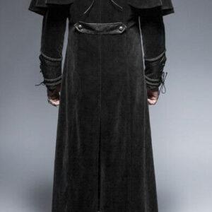 Black Steampunk Pirate Warrior Gothic Dandy Coat