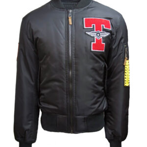 Black Top Gun Tomcat Bomber Jacket