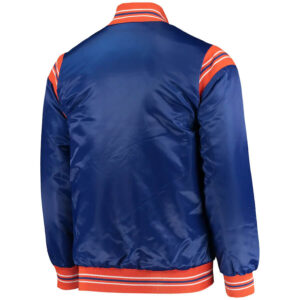 Blue Cleveland Cavaliers Full Snap Satin Jacket