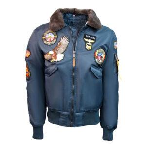 Blue Top Gun American Bomber Jacket