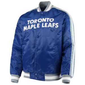 Blue Toronto Maple Leafs Satin Jacket