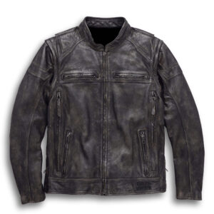 Brown Harley Davidson Convertible Leather Jacket
