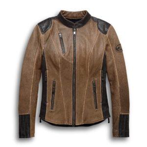 Brown Harley Davidson Motorcycle Leather Jacket