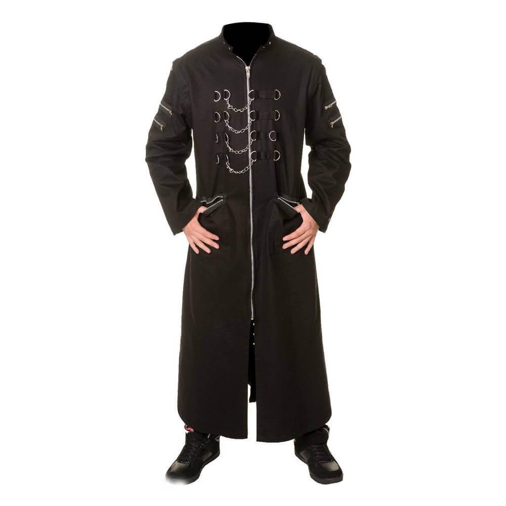 Brown Hellraiser Gothic Long Coat