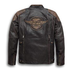 Brown and Black Harley Davidson Motorcycle Jacket