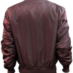 Burgundy Top Gun Flight Bomber Jacket