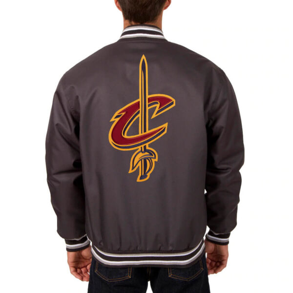 Charcoal Cleveland Cavaliers Satin Jacket