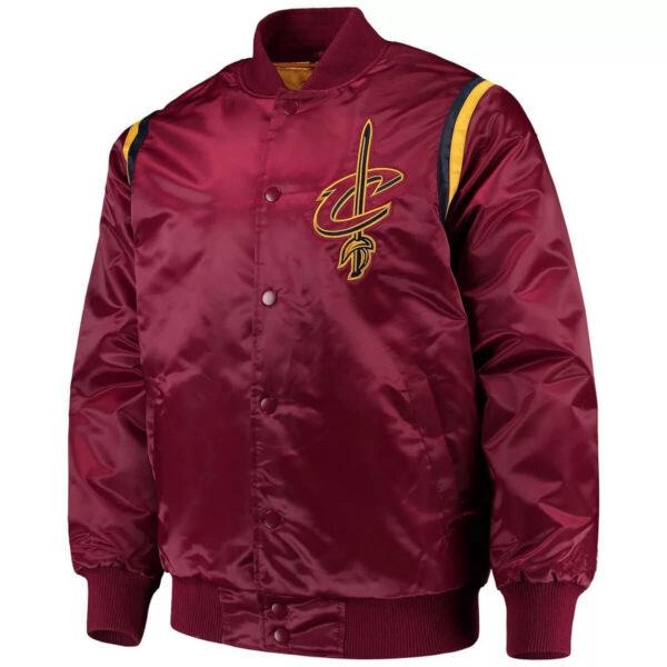 Cleveland Cavaliers Wine Full Snap Jacket