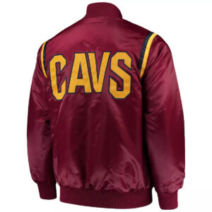 Cleveland Cavaliers Wine Full Snap Jacket
