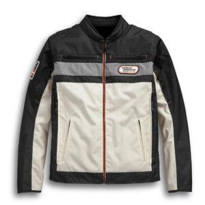 Color blocked Harley Davidson Riding Jacket