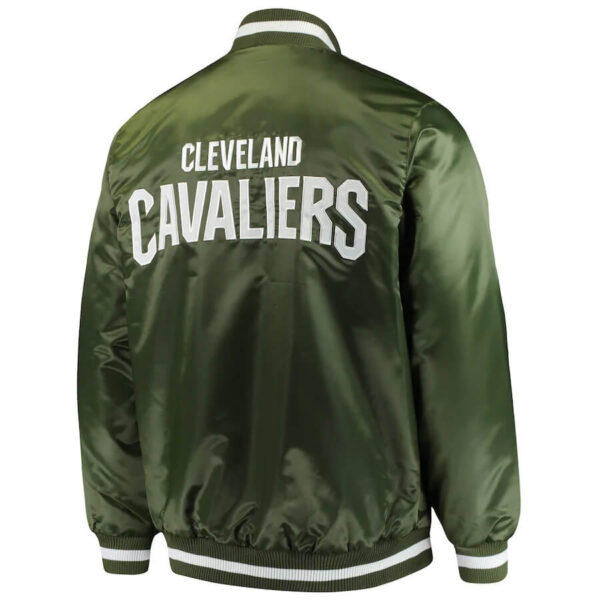 Green Cleveland Cavaliers Full Snap Satin Jacket