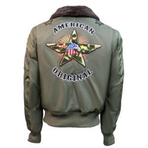 Green Top Gun American Bomber Jacket