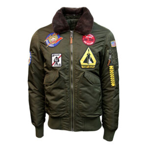 Green Top Gun Eagle II Bomber Jacket