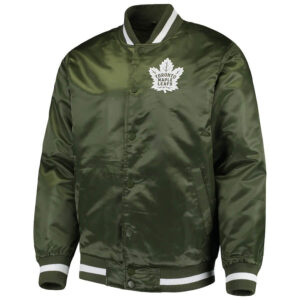 Green Toronto Maple Leafs Satin Jacket