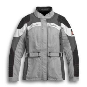 Grey Harley Davidson Riding Leather Jacket