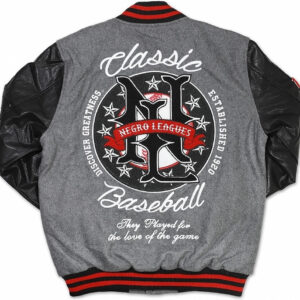 Grey Negro League Baseball Varsity Jacket