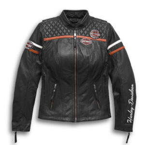 Harley Davidson Black Motorcycle Leather Jacket