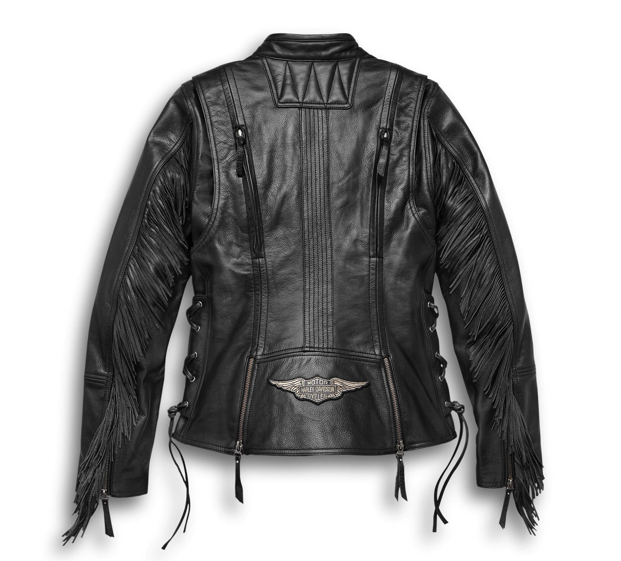 Harley Davidson Motorcycle Fringed Leather Jacket