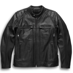 Harley Davidson Motorcycle Leather Jacket in Black