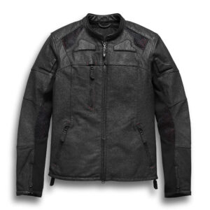 Harley Davidson Motorcycle Perforated Leather Jacket