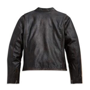 Harley Davidson Motorcycle Sleeve Stripe Leather Jacket