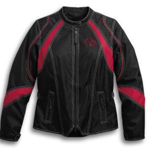 Harley Davidson Riding Windbreaker Black Jacket