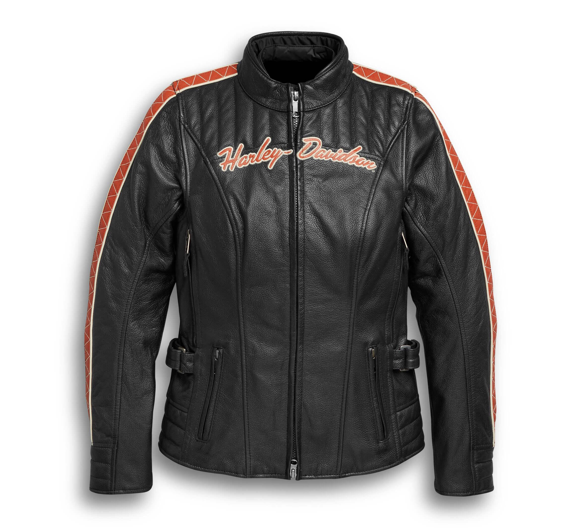 Motorcycle Black Harley Davidson Leather Jacket