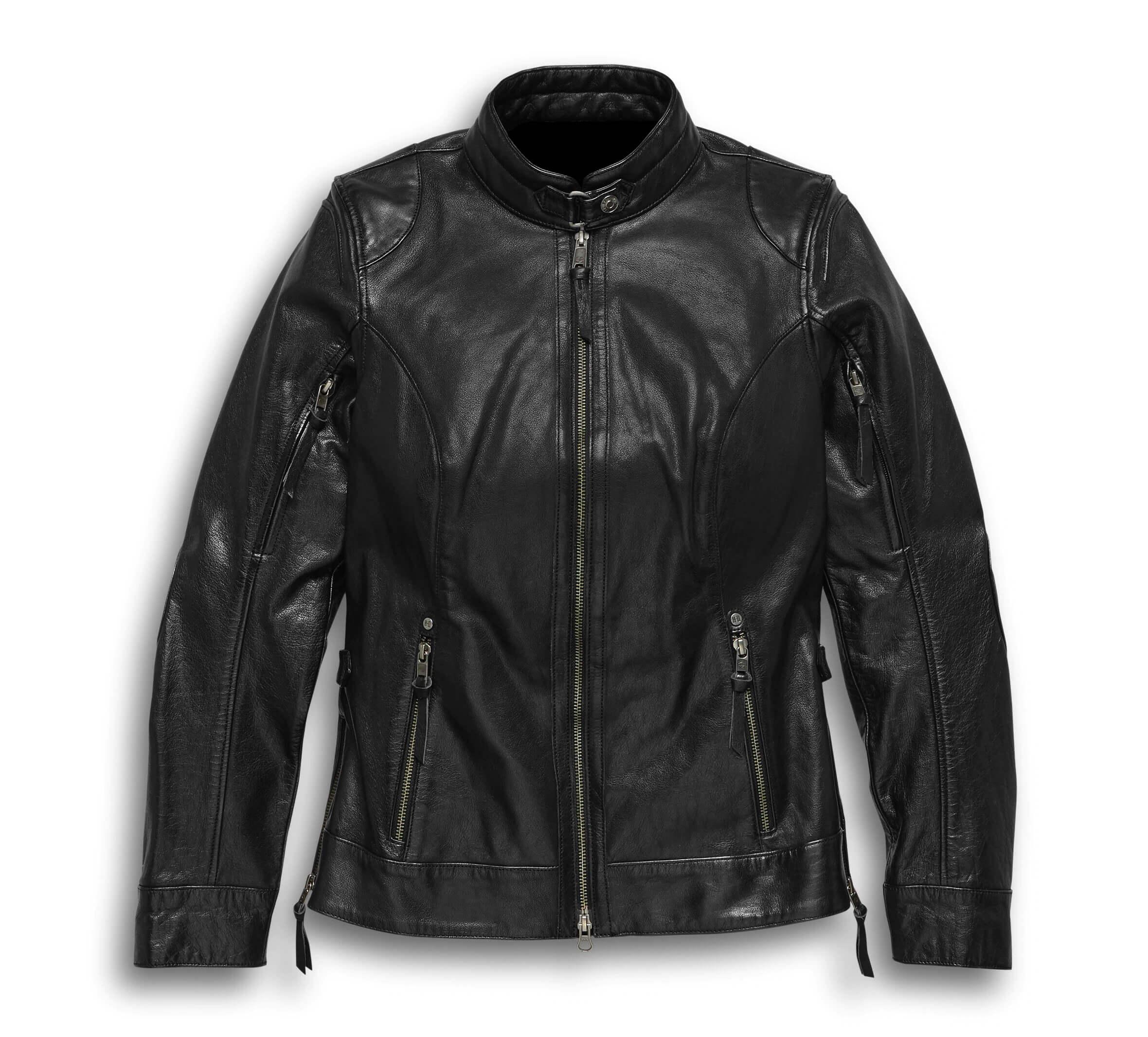 Motorcycle Harley Davidson Black Leather Jacket