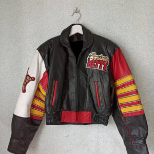 Multi Color Betty Boop Vintage Leather Jacket