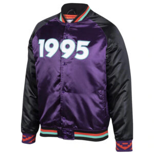 NBA All Star Game Purple Satin Jacket