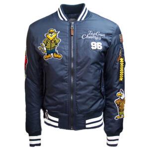 Navy Blue Top Gun Champs Bomber Jacket